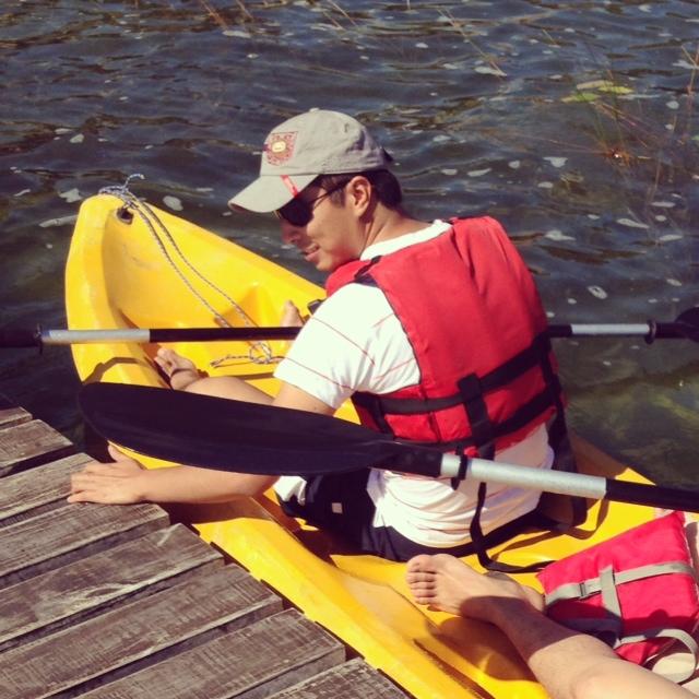 Mike en Kayak